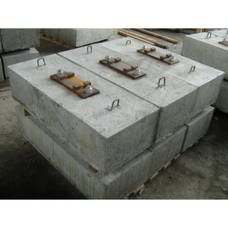 Element podtorza pod suwnicę 100x40x25cm