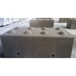 Betonowy element muru 120x60x50