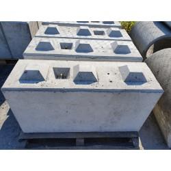 Betonowy element muru 120x40x60 cm - blok betonowy