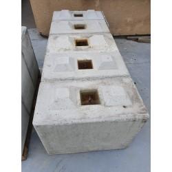 Betonowy element muru 80x40x60 cm - blok betonowy