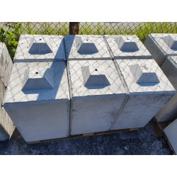 Betonowy element muru 40x40x60 cm - blok betonowy