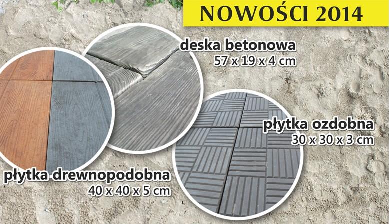 Płytki ozdobne betonowe